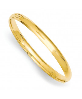 14k 3/16 Polished Hinged Baby Bangle Bracelet