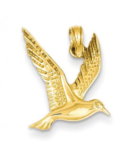 14k Seagull Flying Pendant