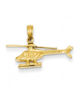 14k 3-D Helicopter Pendant