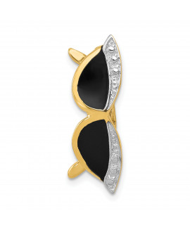 14k Enameled Sunglasses Pendant Slide