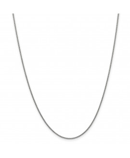 14k WG 1.5mm Solid Polished Cable Chain