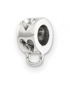 Sterling Silver Reflections Heart w/Loop for Click-on Bead