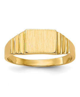 14K Rectangular Baby Signet Ring