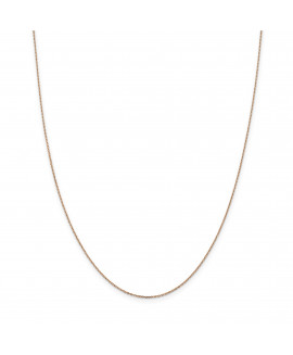 14k Rose Gold 1.0mm Cable Chain