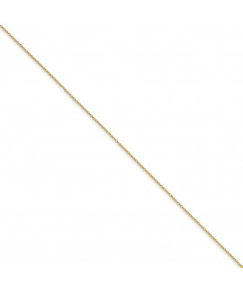 Yellow Rhodium over Brass 1.70mm Plated Rolo Chain