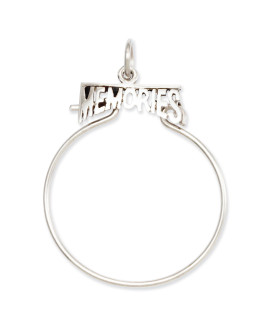14k White Gold Memories Charm Holder
