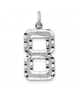 14kw Casted Large Diamond Cut Number 8 Charm