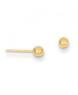 14k Polished 3mm Ball Post Earrings