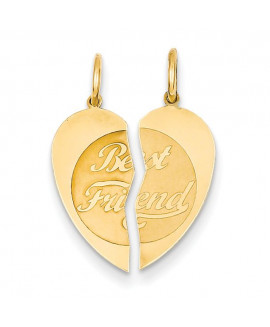 14K 2pc Best Friend Charm