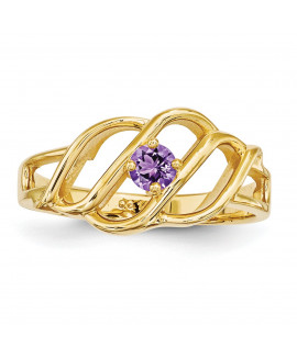 14k 2.5mm Synthetic Family Jewelry Ring