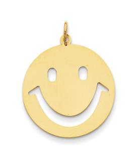 14k Smiley Face Charm