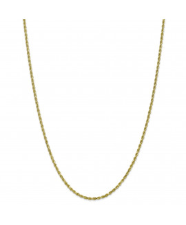 10k 2.25mm Handmade Diamond-cut Rope Chain