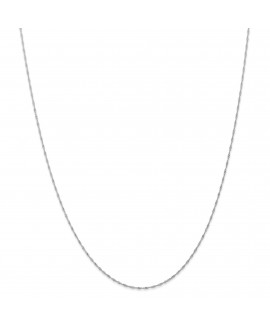 14k WG 1mm Singapore Chain (CARDED)