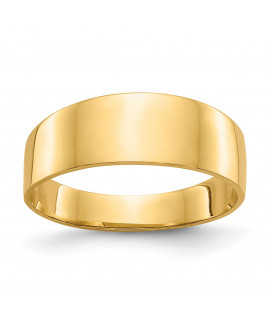 14K 8mm Flat-top Tapered Cigar Band Ring