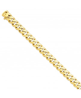 14k 10.8mm Hand-polished Rounded Curb Link Chain