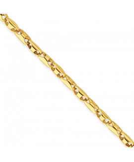 14K 3.1mm Fancy Link Chain