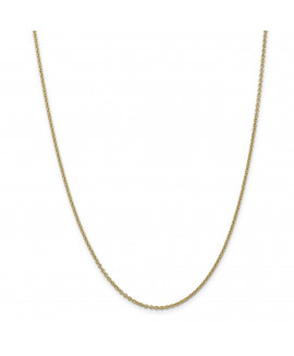 14k 1.8mm Solid Polished Cable Chain Anklet