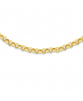 14k 18in 6.25mm Polished Fancy Rolo Link Necklace
