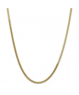 14k 3.0mm Silky Herringbone Chain