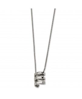 Stainless Steel Pendant 18in Necklace