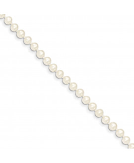 14k 4-5mm White FW Cultured Near Round Pearl Necklace