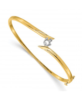 14k Two Tone Bangle Bracelet Mounting