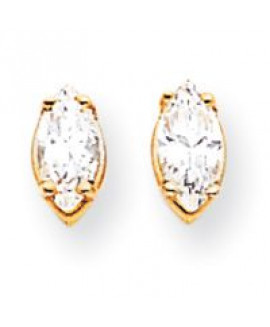 14k 7x3.5 Marquise Earring Mountings