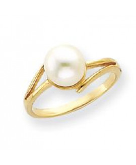14k 7.5mm Pearl Ring Mounting