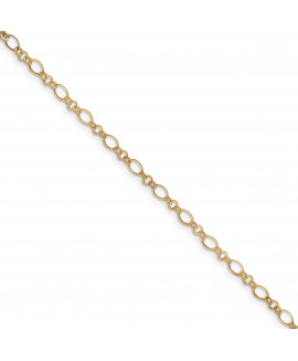 14k 9in with 1in ext Anklet