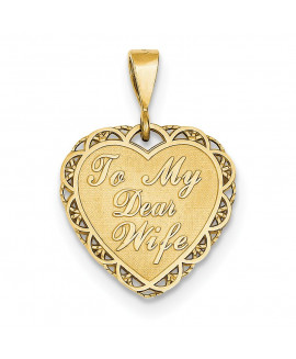 14k for My Dear Wife Charm