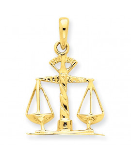 14k Scales of Justice Pendant