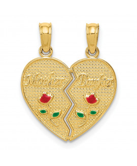 14k Enameled Mother - Daughter Pendant