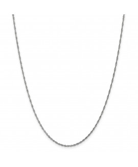 14k WG 1.4mm Singapore Chain