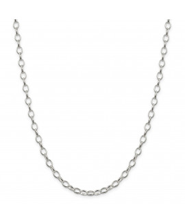 Sterling Silver Rhodium Plated 5mm Rolo Chain