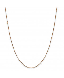 14k Rose Gold .9mm Box Link Chain