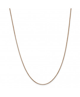 14k Rose Gold 1.0mm Box Link Chain