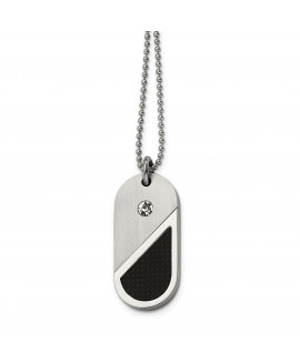 Stainless Steel Dog Tag Heart Convertible Pendant Necklace