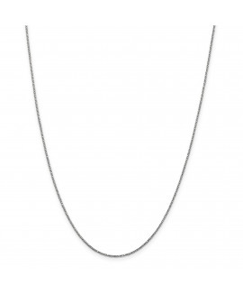 14k White Gold .95mm Twisted Box Chain