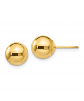 14k Polished 8mm Ball Post Earrings