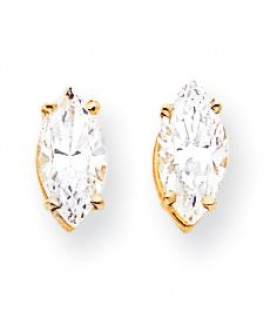 14k 10x5mm Marquise Cubic Zirconia earring