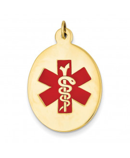 14k Medical Jewelry Pendant