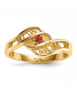 14k Synthetic family jewelry ring