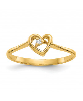 14k .02ct. Diamond Heart Ring Mounting