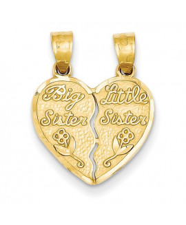 14k 2 piece Break-apart Big Sister & Little Sister Charm