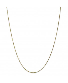 10k 1.15mm Machine Made Diamond-cut 24 inch Rope Chain