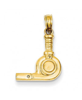 14k 3-D Blow Dryer Pendant