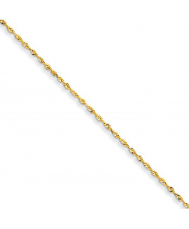 14k 1.5mm D/C Extra-Light Rope Chain