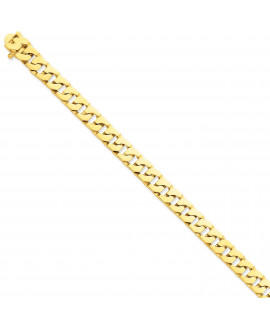 14k 10mm Hand-Polished Fancy Link Chain