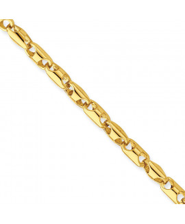 14k 4.1mm Fancy Barrel Link Chain