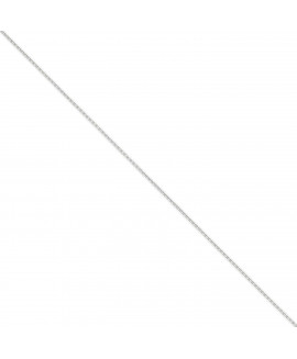 14k WG 1.3mm Solid D/C Cable Chain